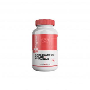 Carbonato de Cálcio + Vit D3 60 Cápsulas