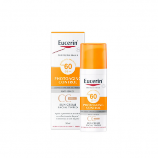 CC Cream Sun Creme Facial Tinted FPS 60 - Eucerin 50ml
