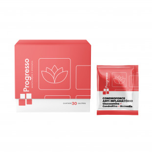 CondroForce Anti-Inflamatório (Glucosamina + Condroitina + Boswellia) 30 Sachês