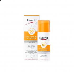 Protetor Solar Facial Sun Fluido Anti-Idade FPS 50 - Eucerin 50ml
